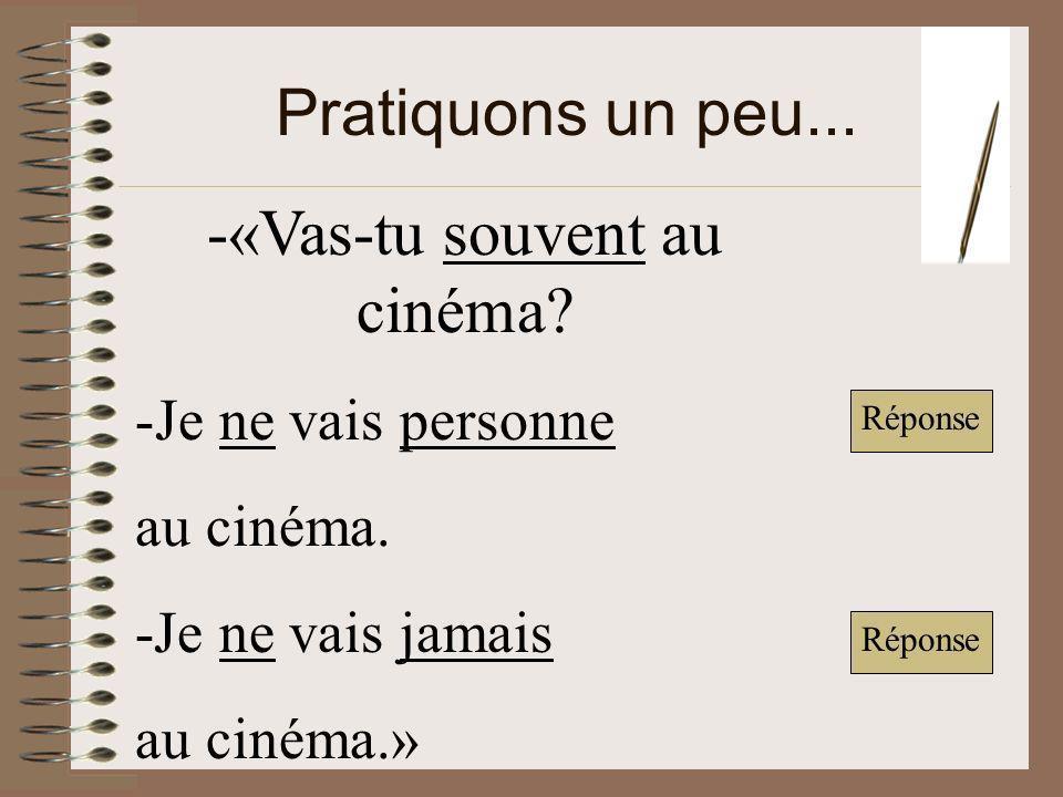 -«Vas-tu souvent au cinéma