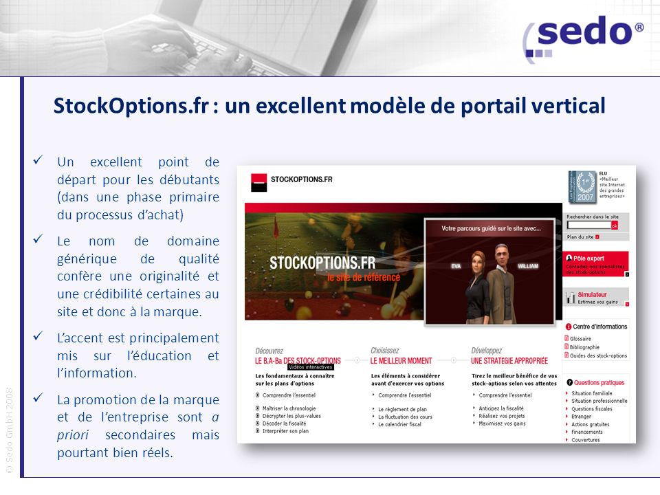 StockOptions.fr : un excellent modèle de portail vertical