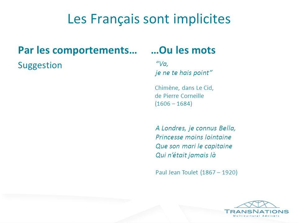 Les Français sont implicites