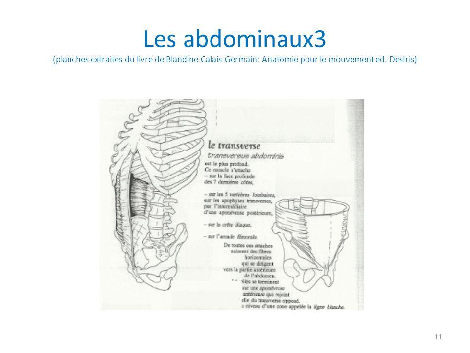 Les abdominaux3 (planches extraites du livre de Blandine Calais-Germain: Anatomie pour le mouvement ed.