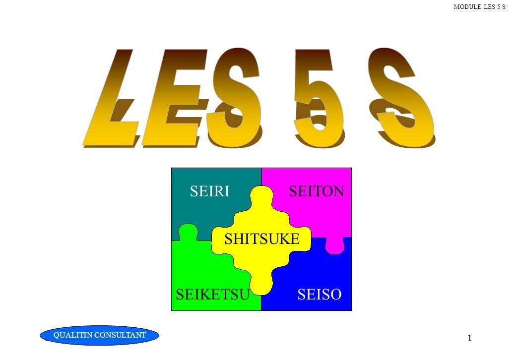 LES 5 S SEIRI SEITON SHITSUKE SEIKETSU SEISO