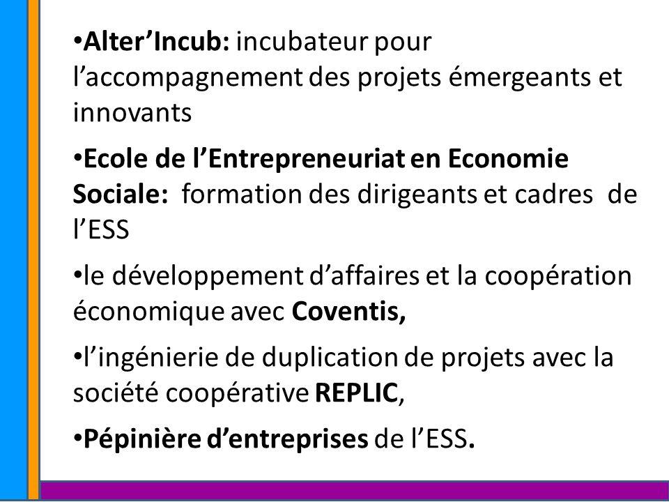 Alter'Incub: incubateur pour l'accompagnement des projets émergeants et innovants