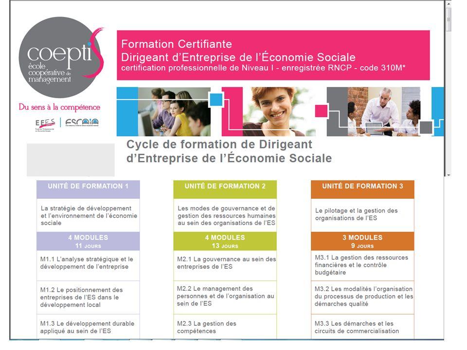 la formation des dirigeants et cadres avec l'Ecole de l'Entrepreneuriat en Economie Sociale