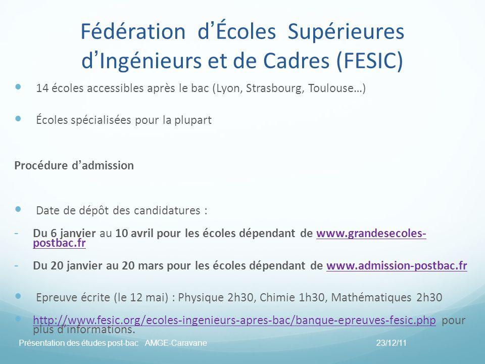 Fédération d'Écoles Supérieures d'Ingénieurs et de Cadres (FESIC)
