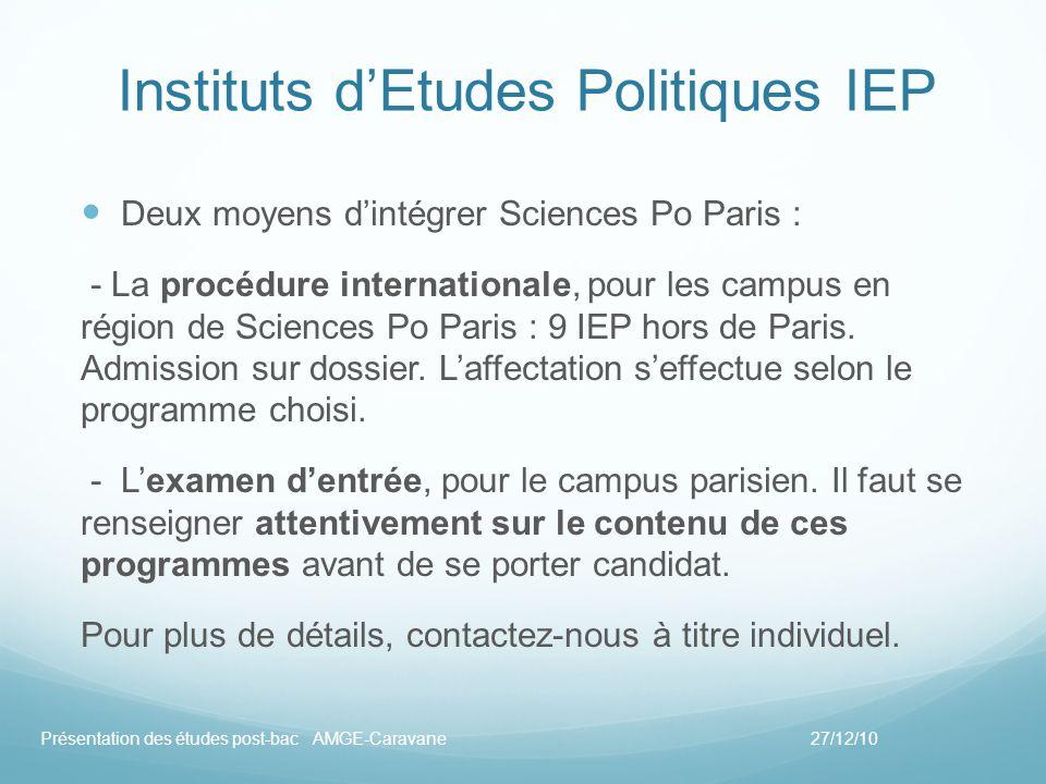 Instituts d'Etudes Politiques IEP