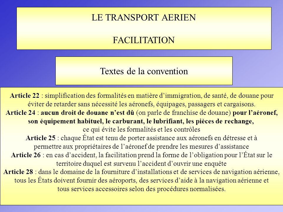 Textes de la convention