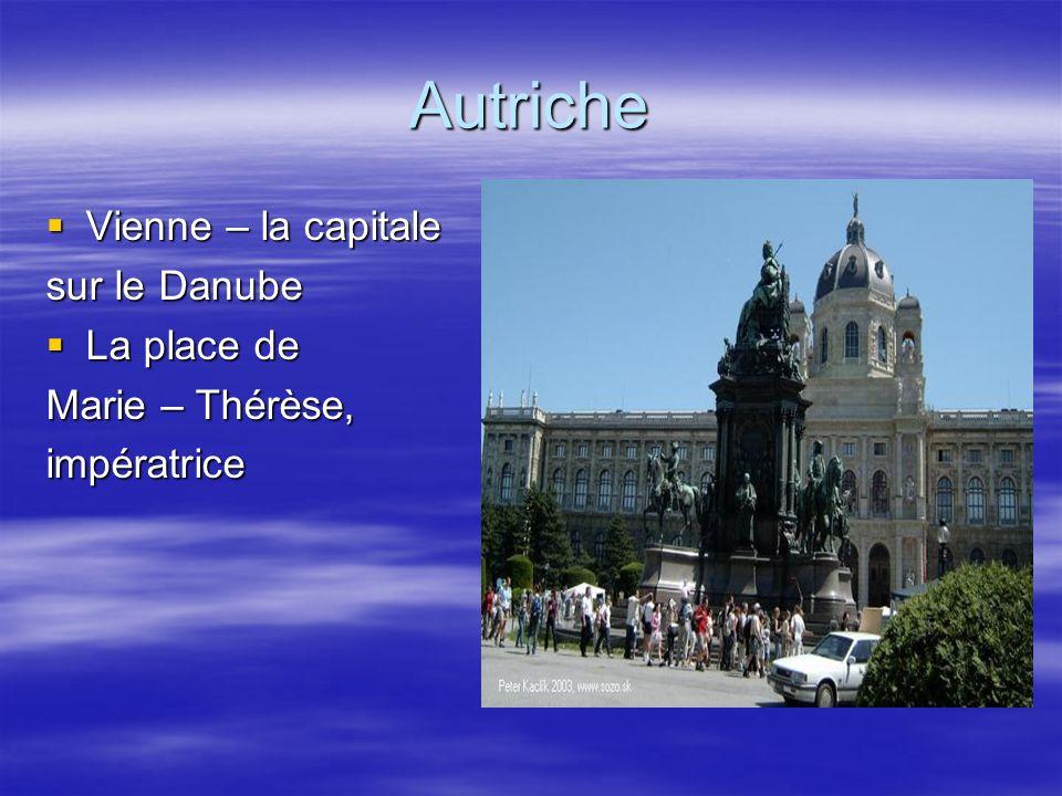 Autriche Vienne – la capitale sur le Danube La place de