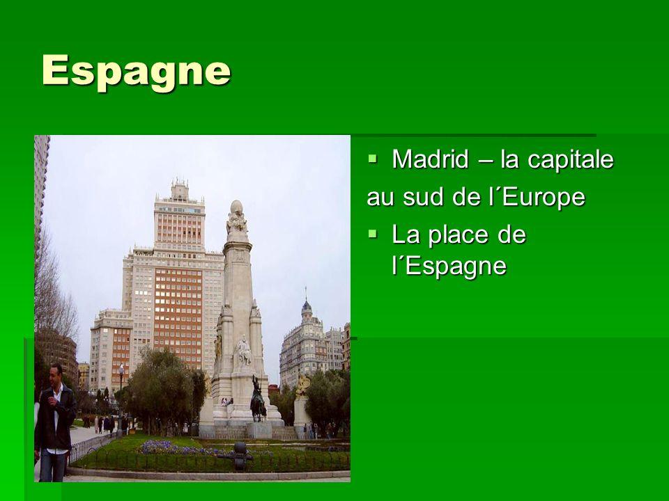 Espagne Madrid – la capitale au sud de l´Europe La place de l´Espagne