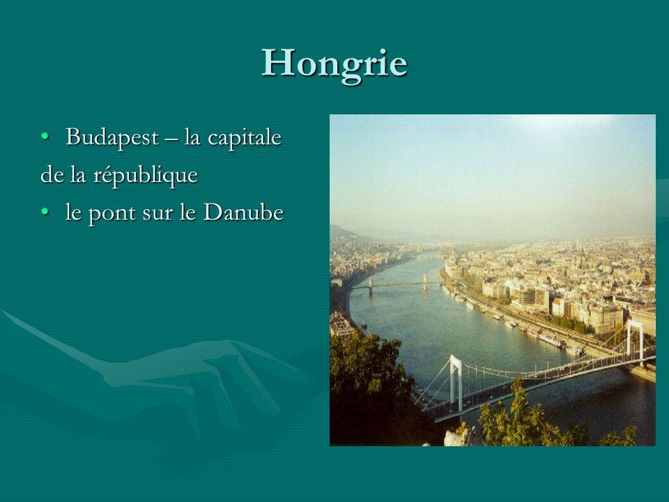 Hongrie Budapest – la capitale de la république le pont sur le Danube