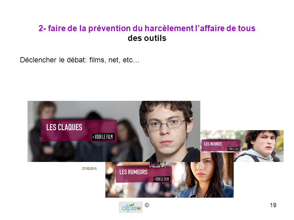 2- faire de la prévention du harcèlement l'affaire de tous des outils