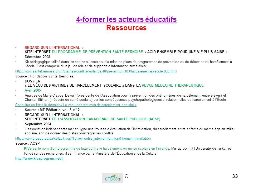 4-former les acteurs éducatifs Ressources