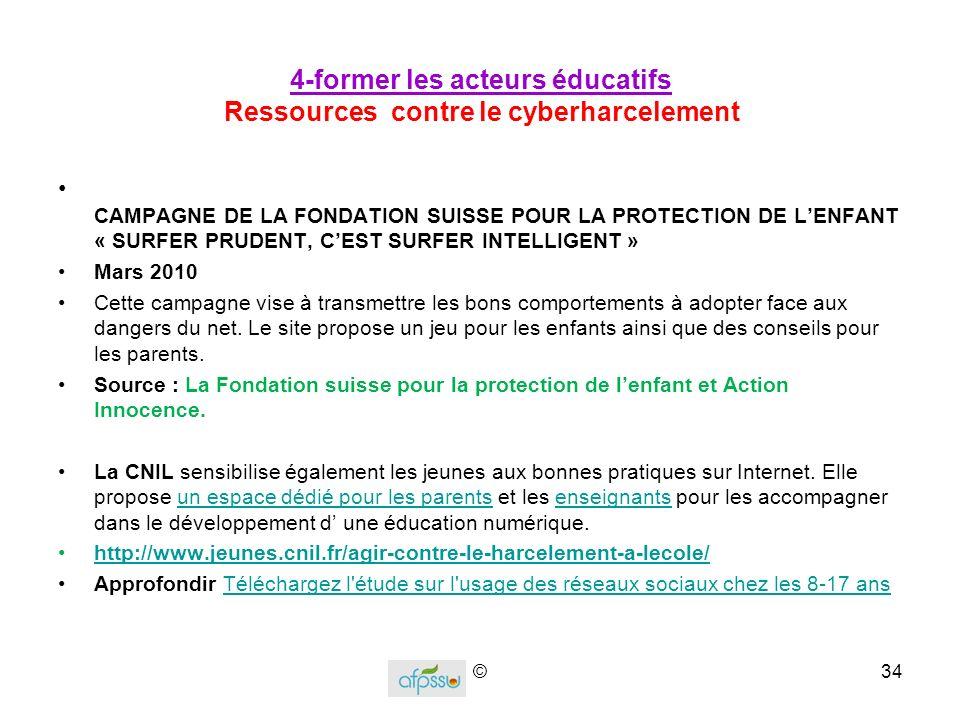 4-former les acteurs éducatifs Ressources contre le cyberharcelement