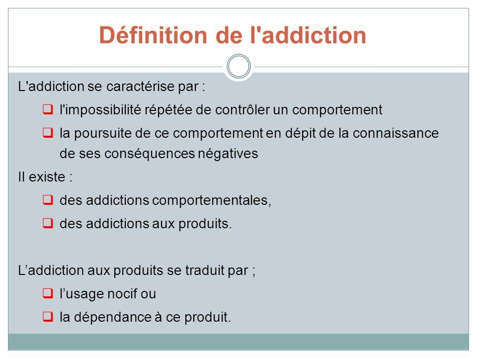 Définition de l addiction