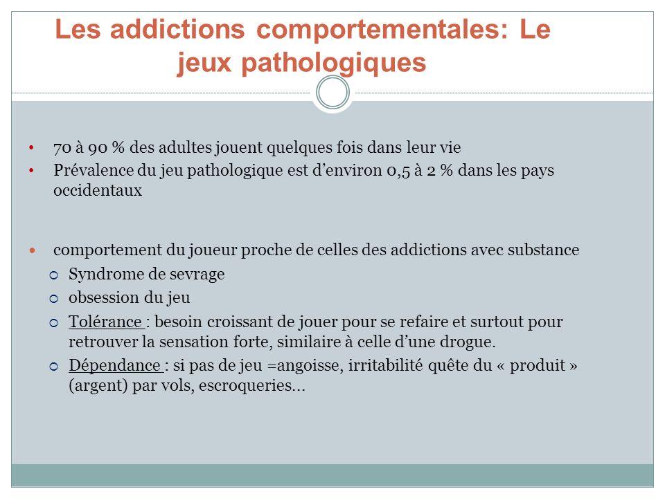 Les addictions comportementales: Le jeux pathologiques