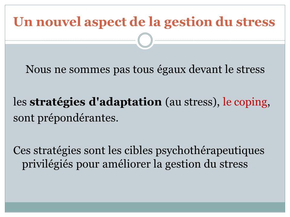 Un nouvel aspect de la gestion du stress