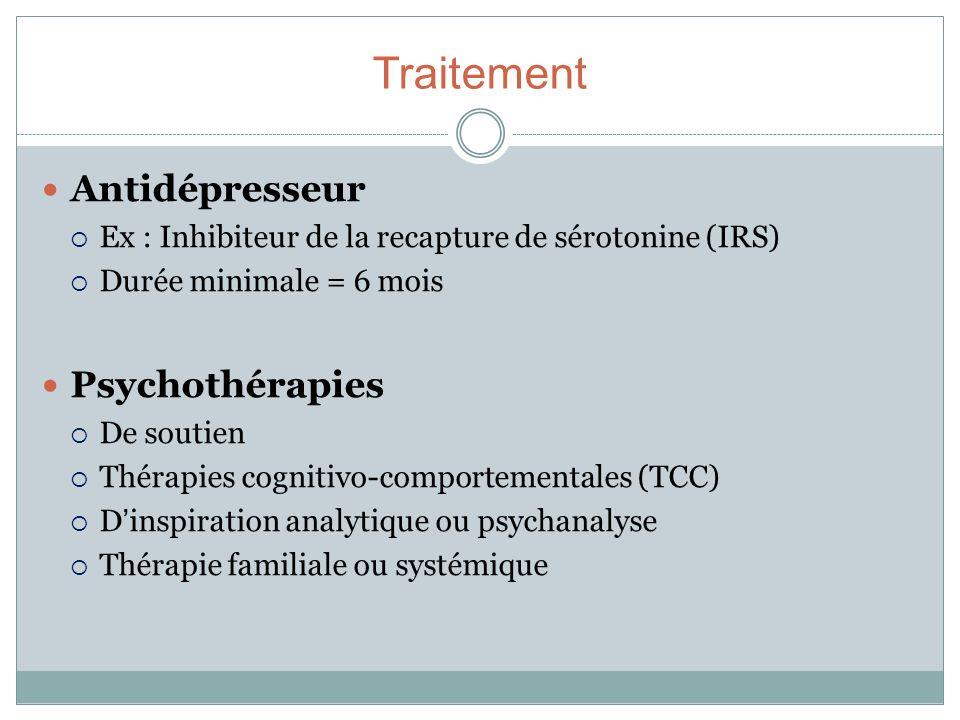 Traitement Antidépresseur Psychothérapies