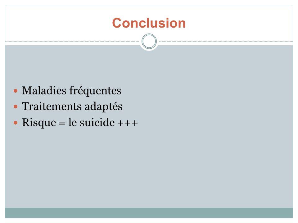 Conclusion Maladies fréquentes Traitements adaptés