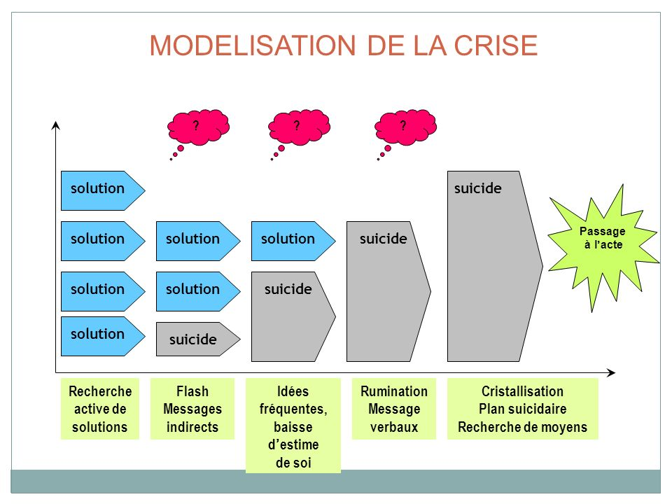 MODELISATION DE LA CRISE