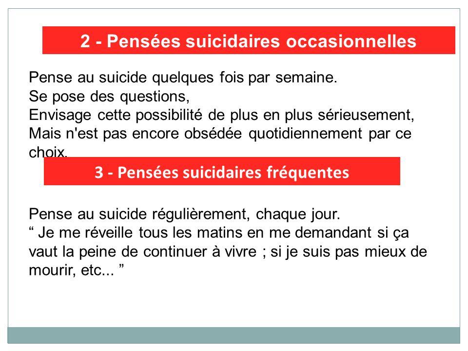 2 - Pensées suicidaires occasionnelles