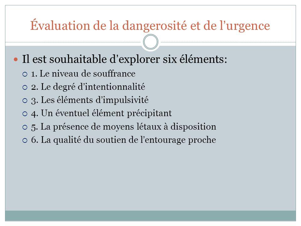Évaluation de la dangerosité et de l'urgence