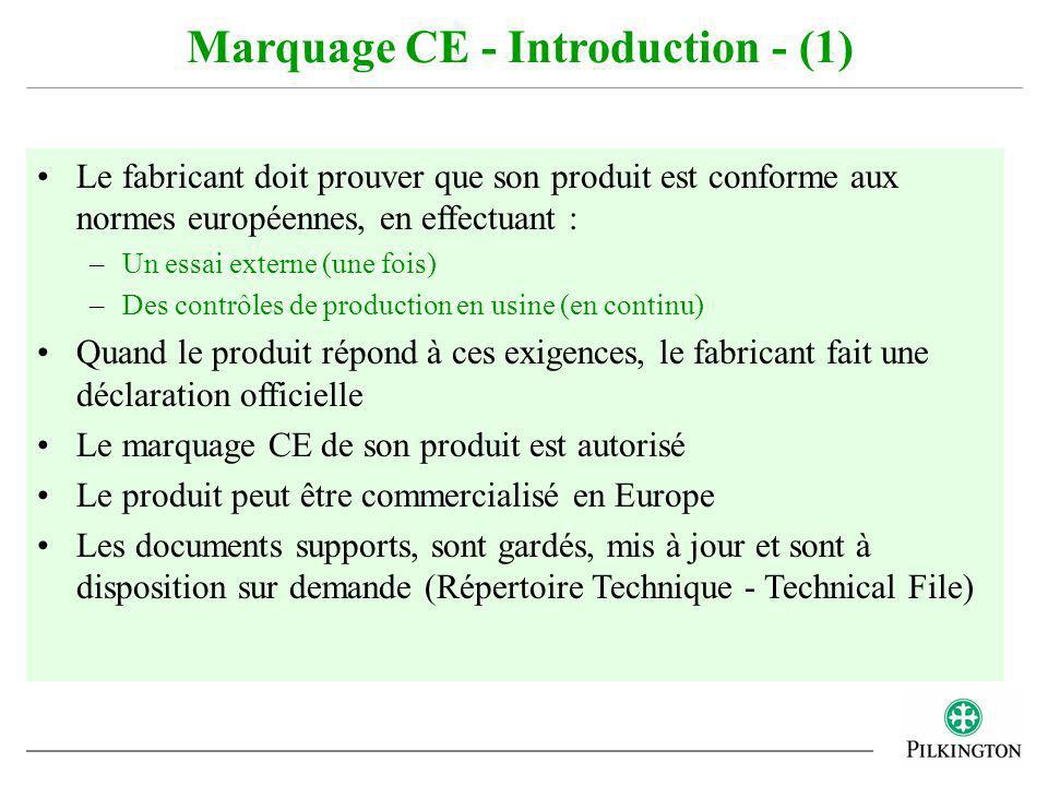 Marquage CE - Introduction - (1)