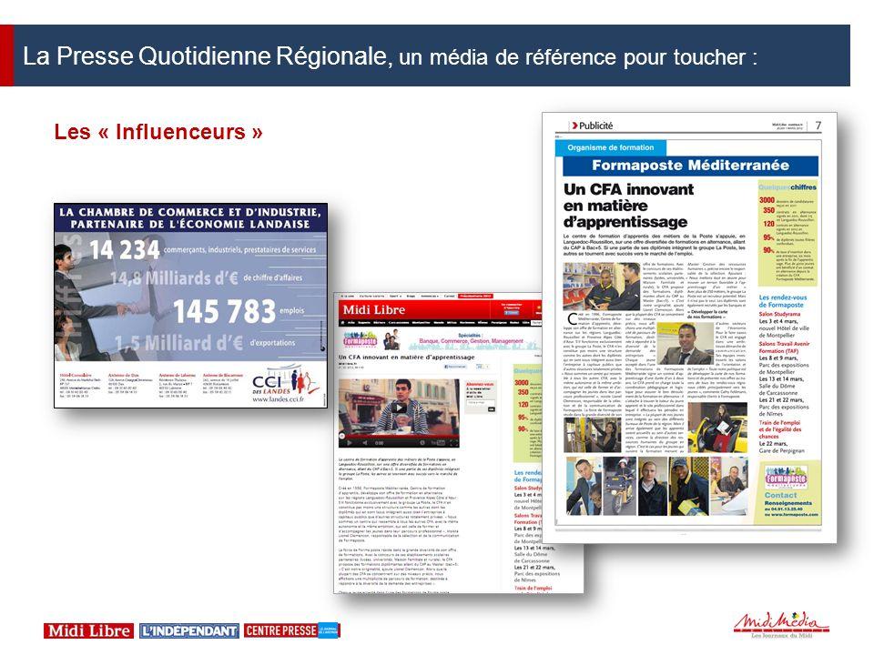 La Presse Quotidienne Régionale, un média de référence pour toucher :
