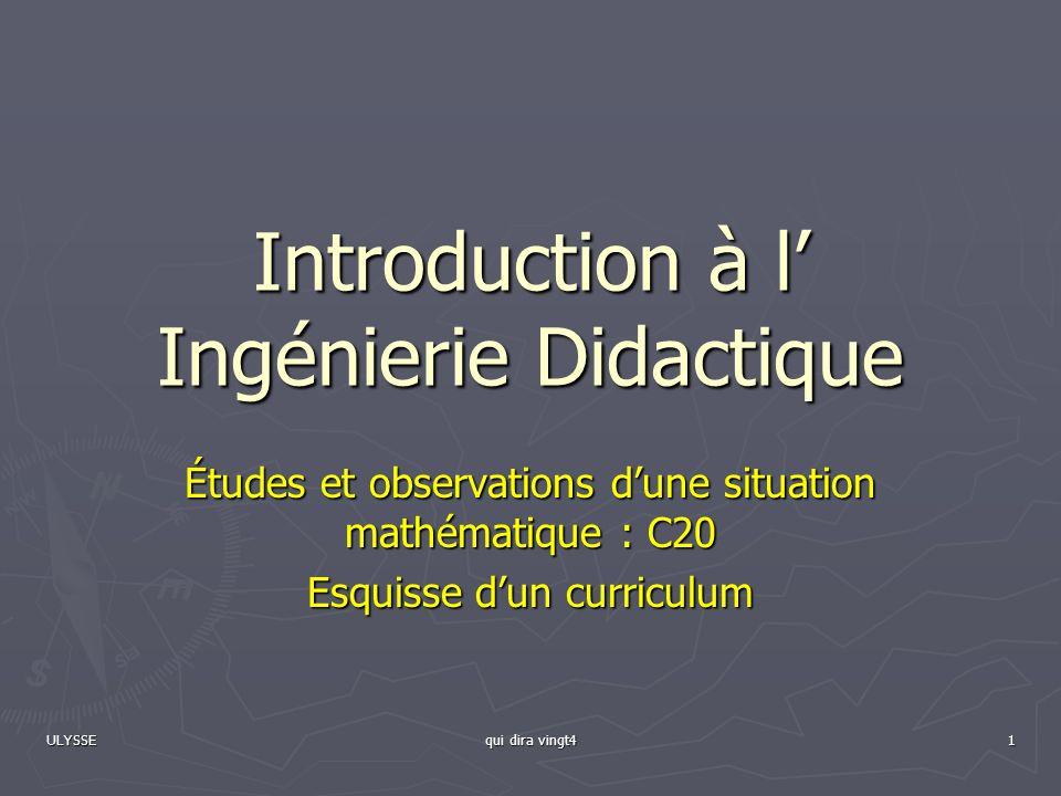 Introduction à l' Ingénierie Didactique