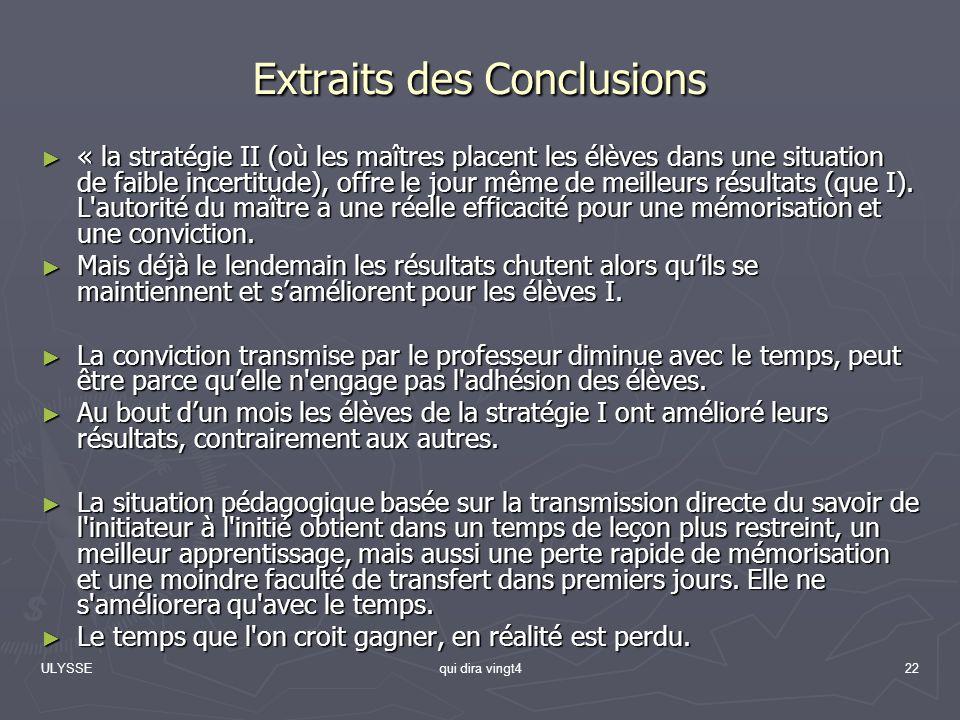 Extraits des Conclusions