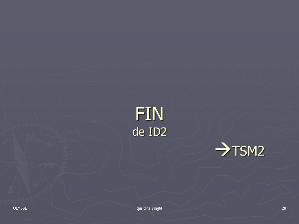FIN de ID2 TSM2 ULYSSE qui dira vingt4