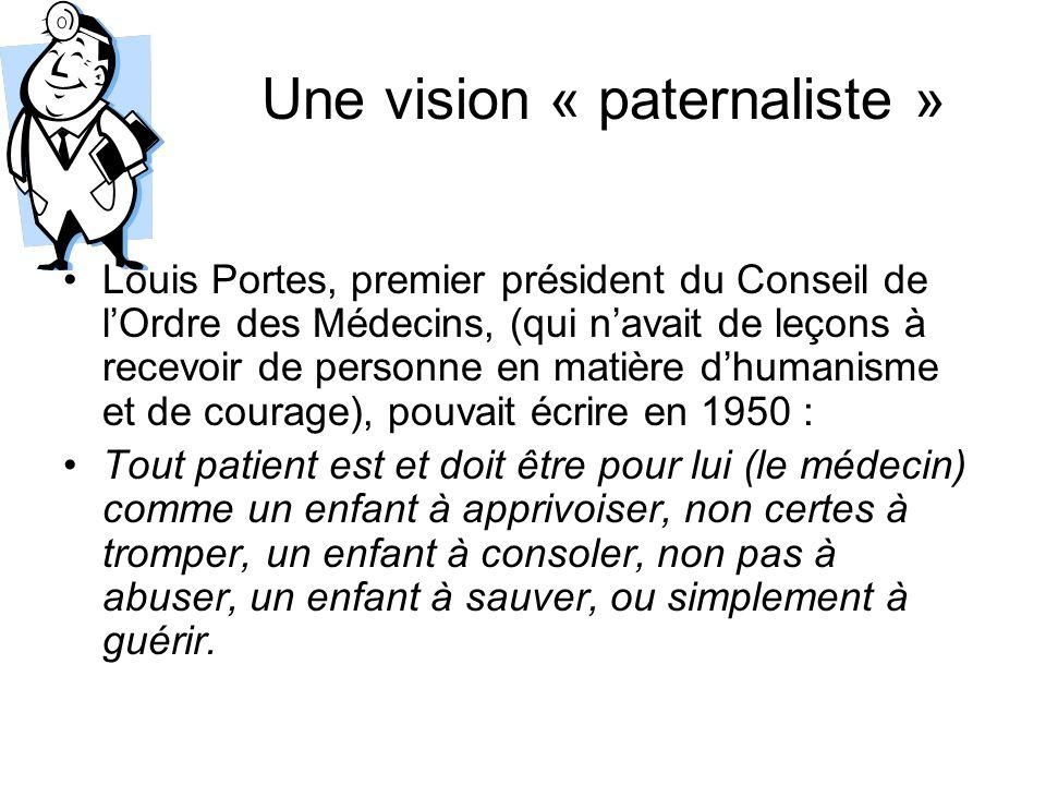 Une vision « paternaliste »