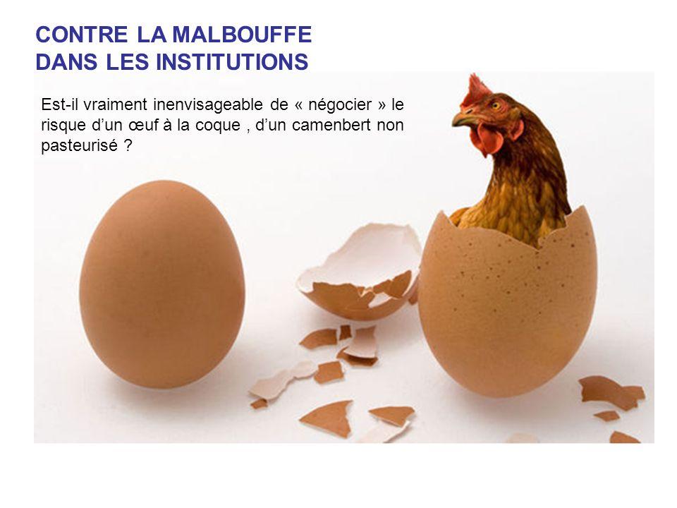 CONTRE LA MALBOUFFE DANS LES INSTITUTIONS
