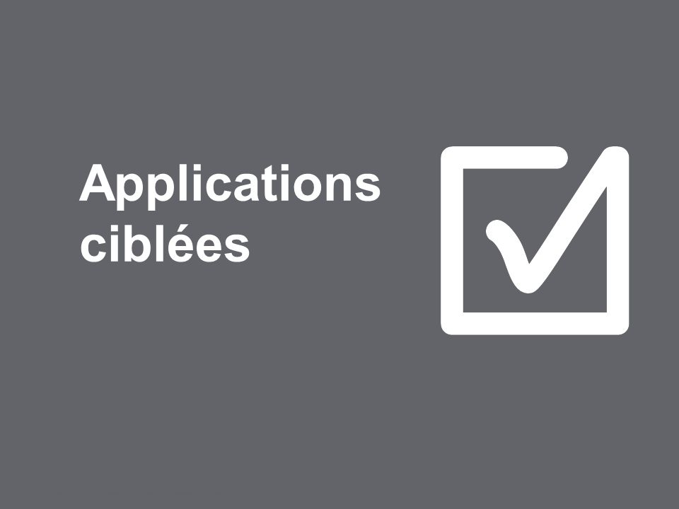 Applications ciblées