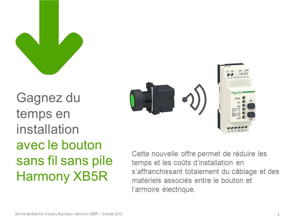 Gagnez du temps en installation avec le bouton sans fil sans pile Harmony XB5R