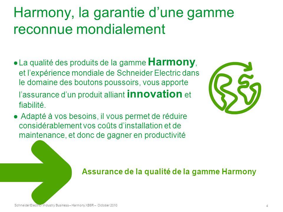 Harmony, la garantie d'une gamme reconnue mondialement