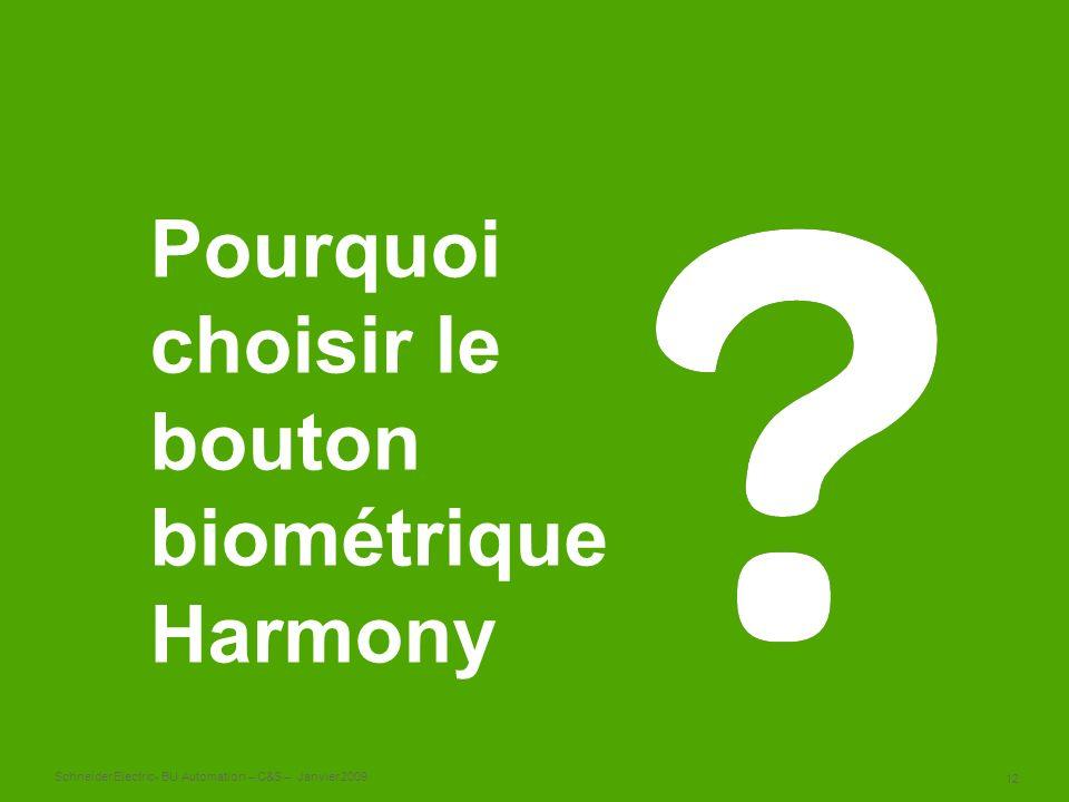 Pourquoi choisir le bouton biométrique Harmony