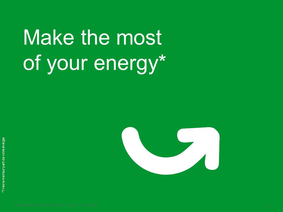 Make the most of your energy*