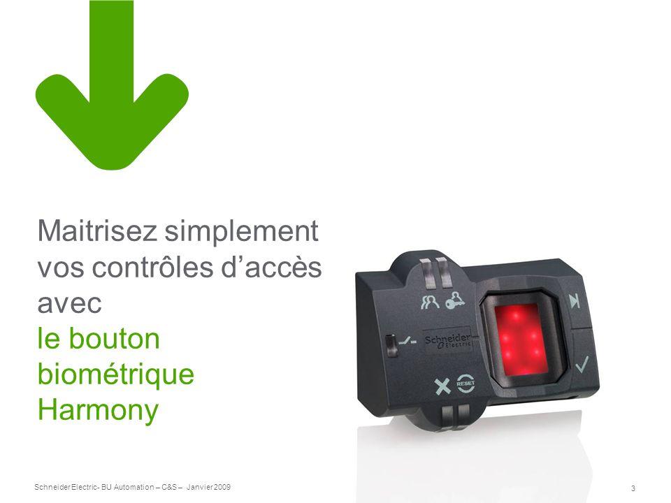 Maitrisez simplement vos contrôles d'accès avec le bouton biométrique Harmony