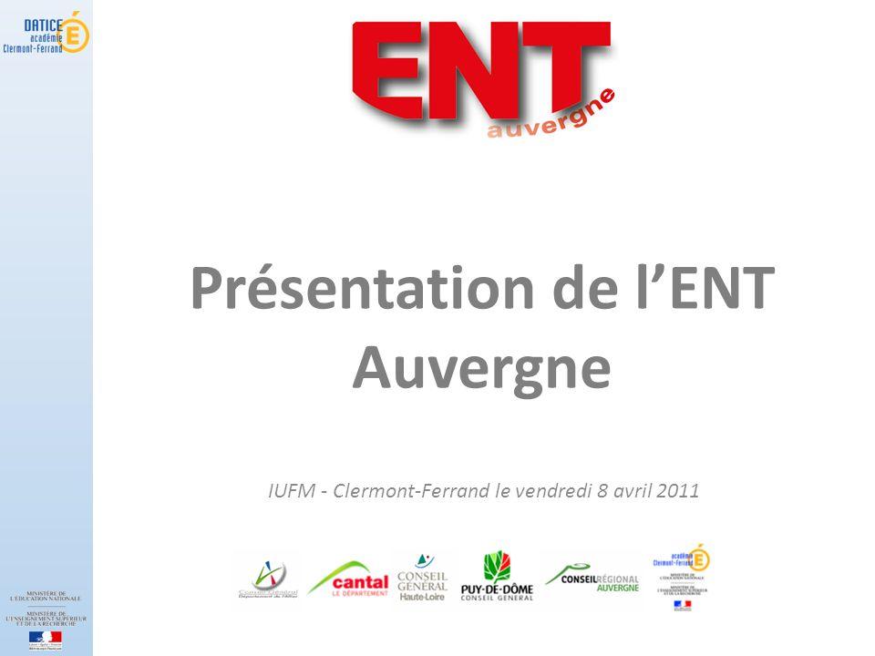 Présentation de l'ENT Auvergne