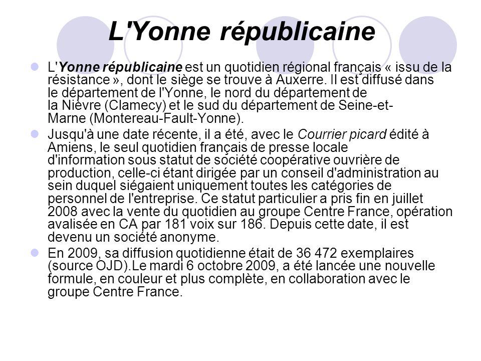 L Yonne républicaine