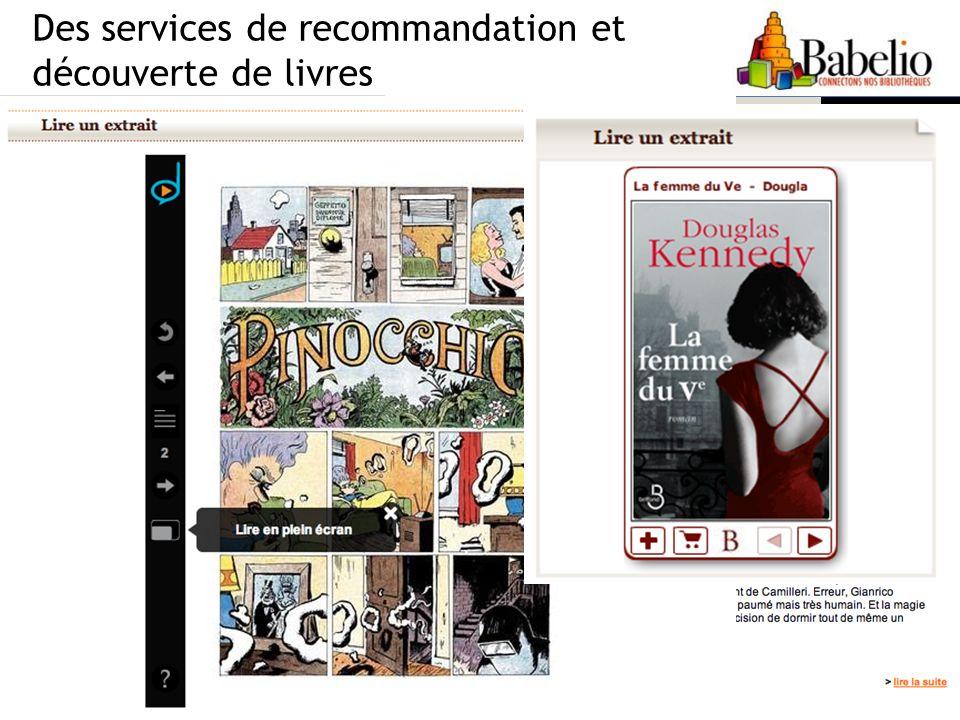 Des services de recommandation et découverte de livres