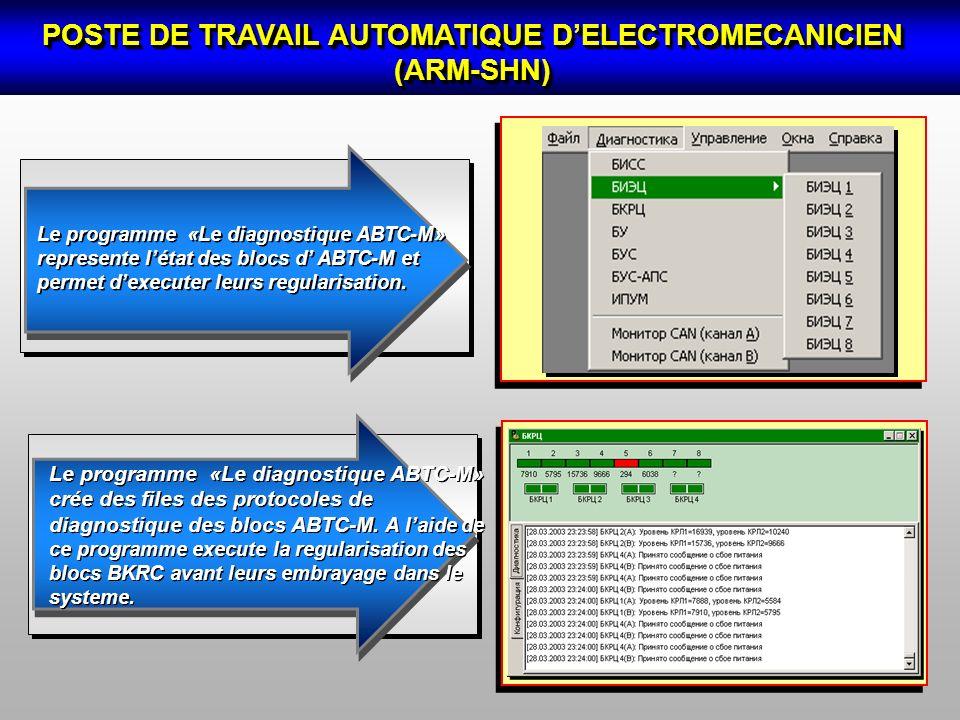 POSTE DE TRAVAIL AUTOMATIQUE D'ELECTROMECANICIEN (АRM-SHN)