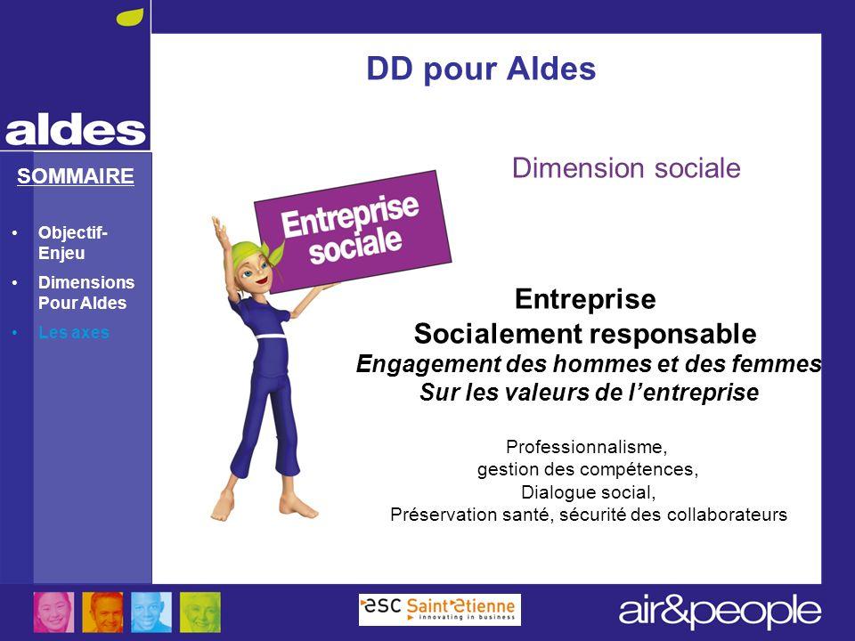 DD pour Aldes Dimension sociale Entreprise Socialement responsable