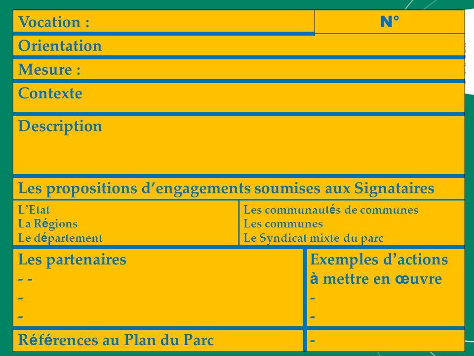 Les propositions d'engagements soumises aux Signataires