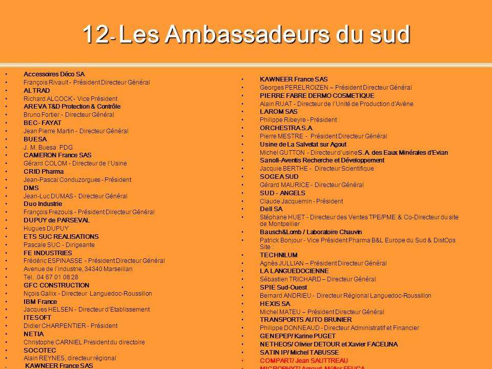 12- Les Ambassadeurs du sud