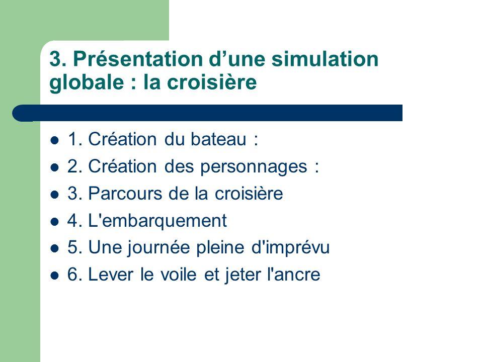 3. Présentation d'une simulation globale : la croisière