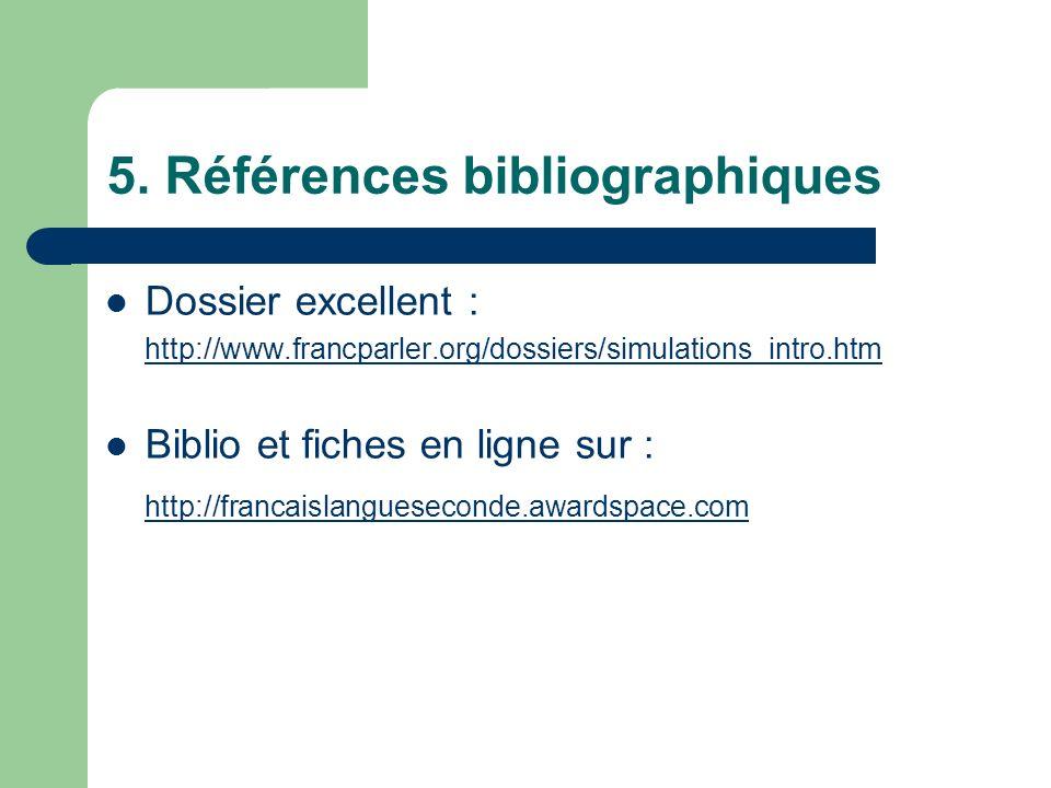 5. Références bibliographiques