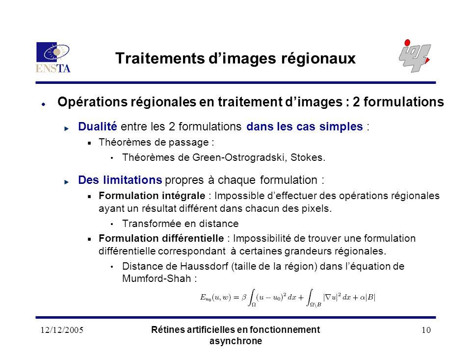 Traitements d'images régionaux