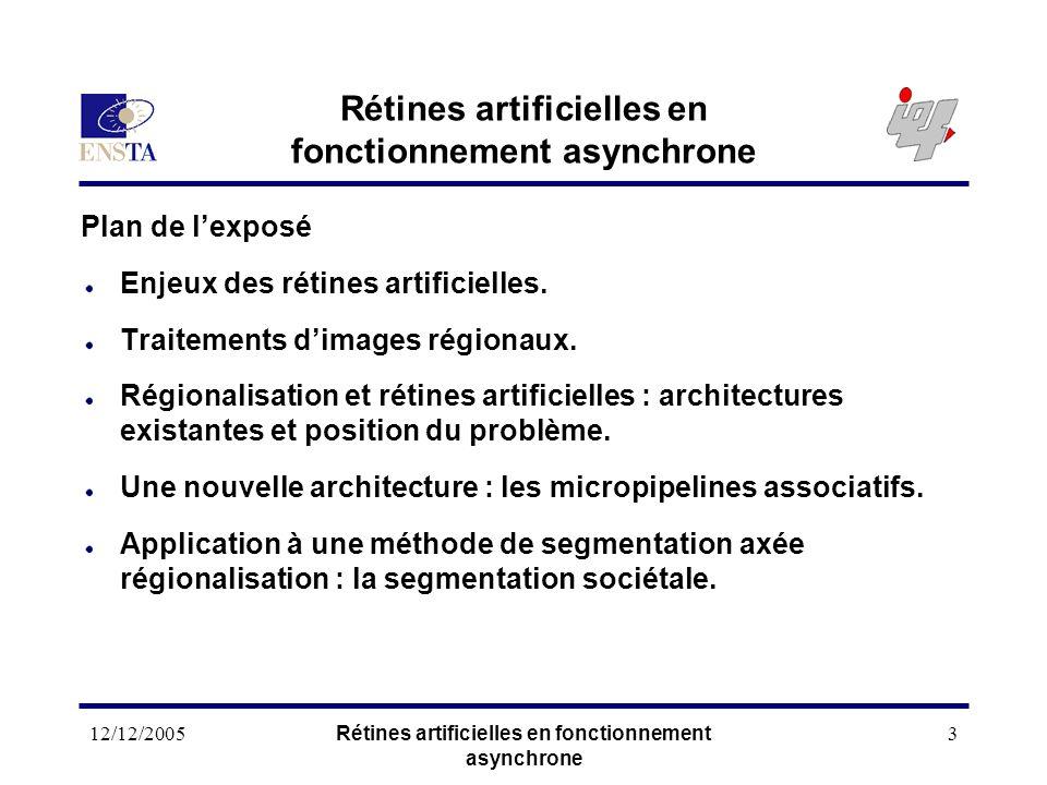 Rétines artificielles en fonctionnement asynchrone