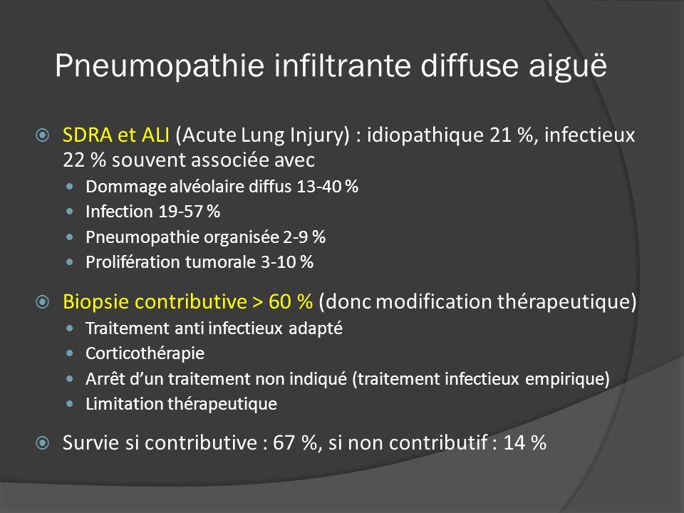Pneumopathie infiltrante diffuse aiguë