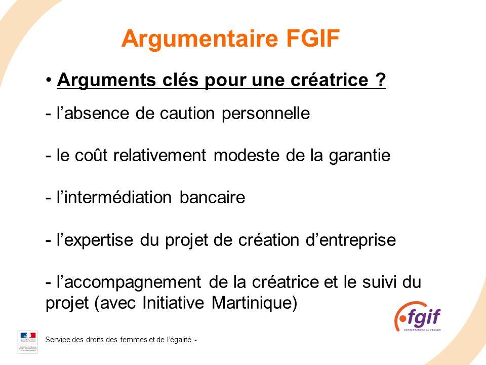 Argumentaire FGIF Arguments clés pour une créatrice